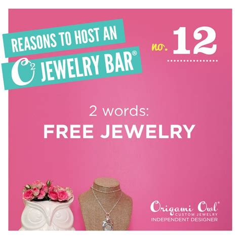 Host An Origami Owl - there are a number of reasons to host a jewelry bar here