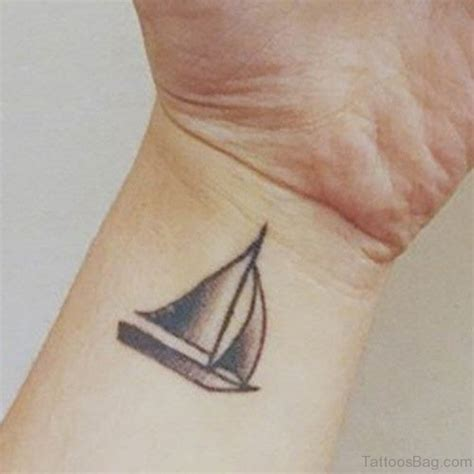 small boat tattoo 13 black boats tattoos on wrist