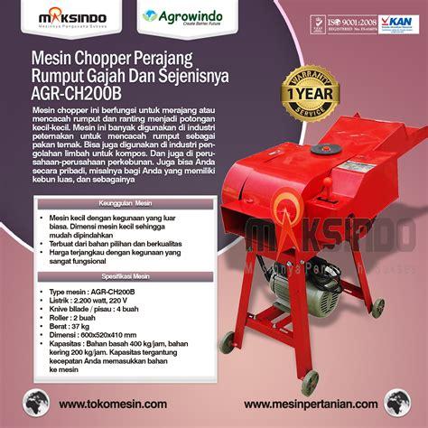 Mesin Pencacah Rumput Terbaru jual mesin chopper perajang rumput gajah sejenisnya agr