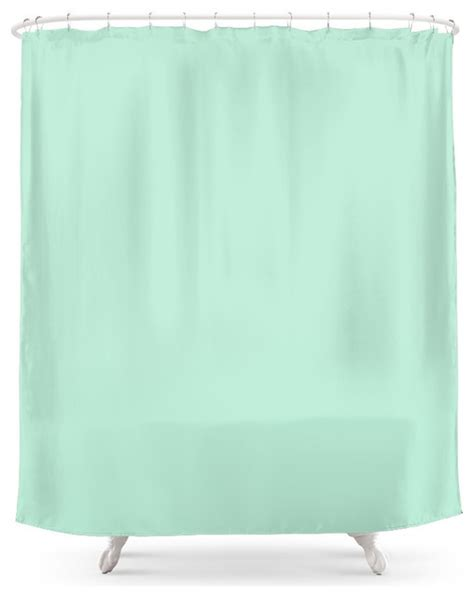 Mint Green Curtains Society6 Mint Green Shower Curtain Contemporary Shower Curtains By Society6