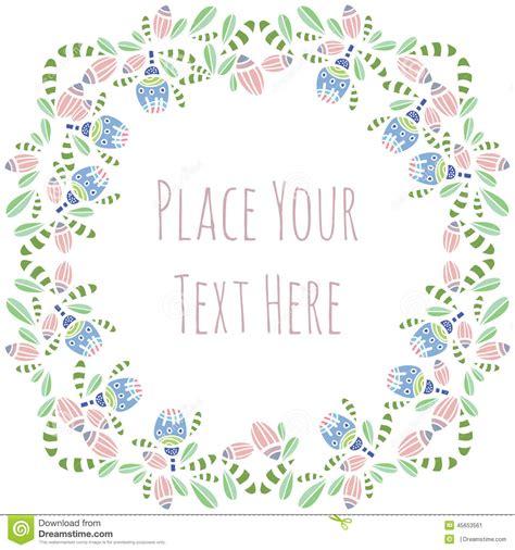 flower frame template custom card template 187 invitation card for christening