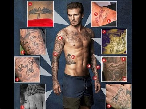 david beckham s 40 tattoos and the special special meaning david beckham 40 tattoos