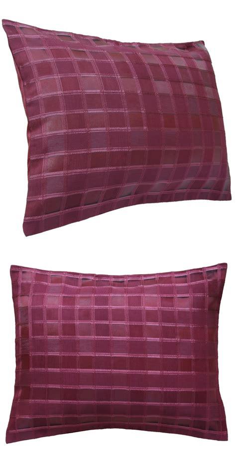 kissen mit reißverschluss 2er pack kissenh 252 lle 45x55 cm organza rot kariert sofa