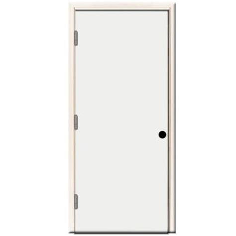 24 X 80 Exterior Door Steves Sons 24 In X 80 In Premium Flush Primed White Right Outswing Steel Prehung Front