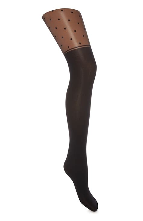 An Attractive And Comfortable Dotty Suspender Belt Tights