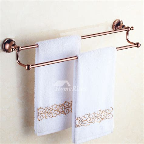 brown bathroom accessories sets gold brass wall mount