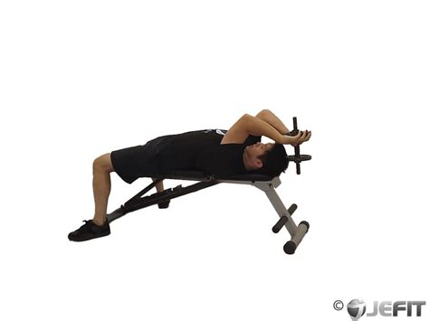 flat bench tricep extension dumbbell lying single extension exercise database