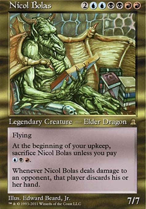 Nicol Bolas Deck by Nicol Bolas Me3 Mtg Card