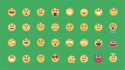 Animated Emoticons Pack After Effects Template Animated Emoticons Pack Cartoons After Effects Templates F5 Design Com