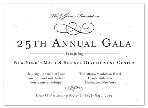 Formal Business Invitation Card Template by Formal Gala Invitations Vip Gala Invitation Seed