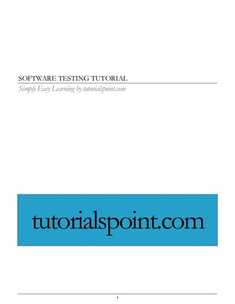 tutorialspoint c pdf software testing pdf