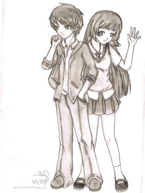 tumblr drawing anime i ve tried this one it s pretty cute anime couple drawing tumblr drawing artistic