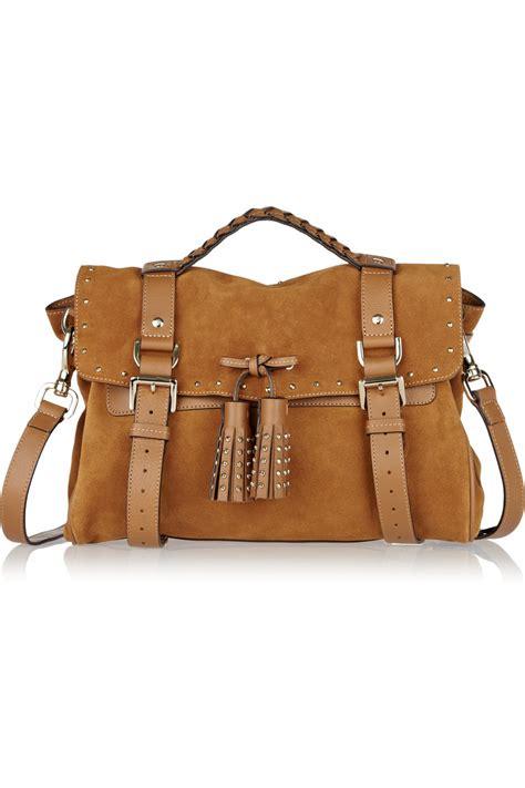 Tassel Bag mulberry tassel studded suede bag in brown lyst