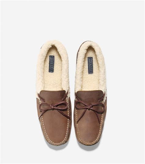 cole haan slippers for cole haan griffin slipper in brown for lyst
