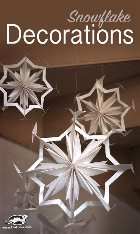 How To Make Paper Snowflake Decorations - krokotak paper snowflake decorations