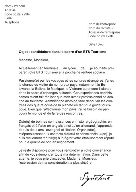 Lettre De Motivation Office De Tourisme Lettre De Motivation Tourisme Le Dif En Questions