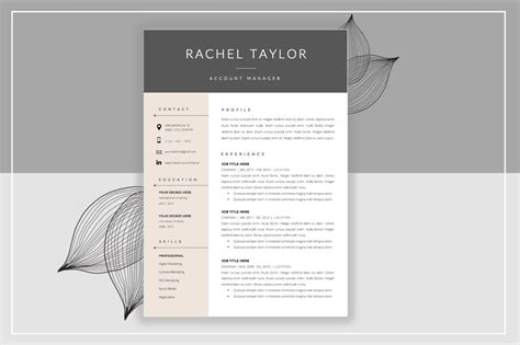 resume template cover letter creative cover letter