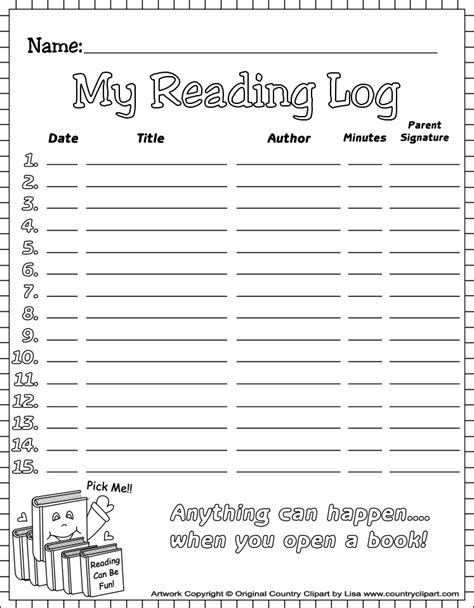 printable january reading log reading log printable reading early readers reading