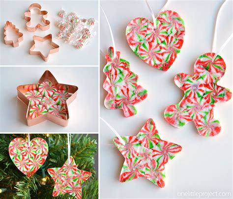 melted peppermint candy ornaments christmas candy ornaments