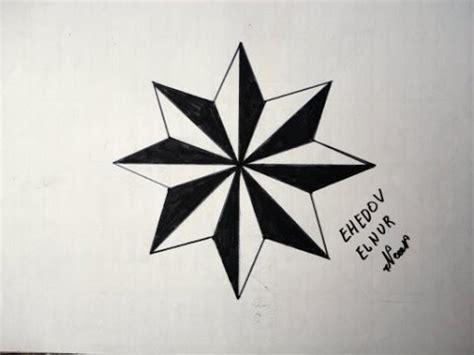 как рисовать восьмиконечную звезду вор в законе тату