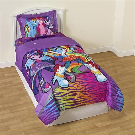 pony comforter my little pony girl s twin reversible comforter sham
