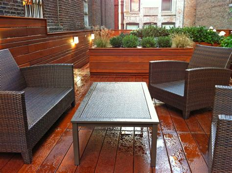 Rooftop Planter Boxes by Gramercy Roof Garden Terrace Deck Wood Planter Boxes