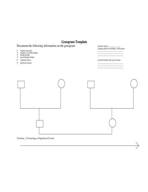 Blank Genogram Template Free Download Genogram Template Pdf
