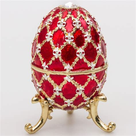 decorative eggs emperor faberg 233 style egg jewelry box red faberge
