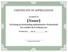 free certificate of appreciation template for word 31 free certificate of appreciation templates and letters
