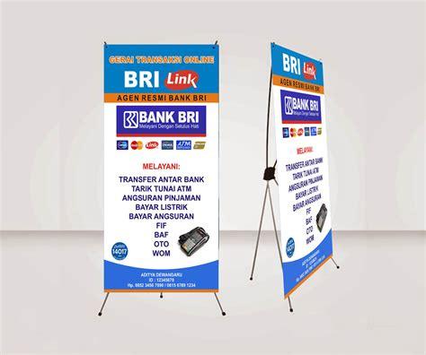 tutorial desain banner download dan cara membuat x banner agen brilink dengan