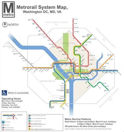 metrorail map list of washington metro stations