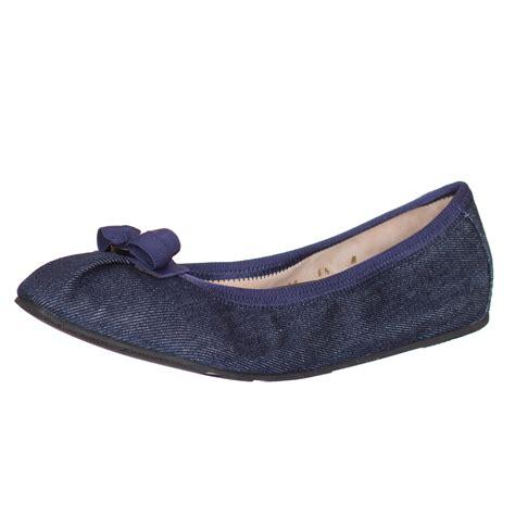 Readt Flat Shoes Salvatore Ferragamo salvatore ferragamo s my denim bow ballerina