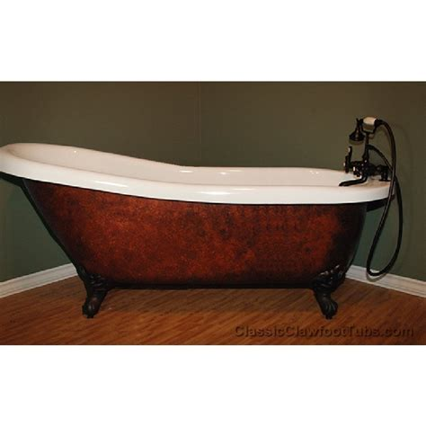 claw footed bathtubs 67 quot acrylic slipper clawfoot tub classic clawfoot tub