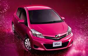 2012 toyota yaris new mini car pink color paint авто