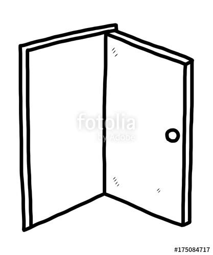 quot open door vector and illustration black and white sketch style