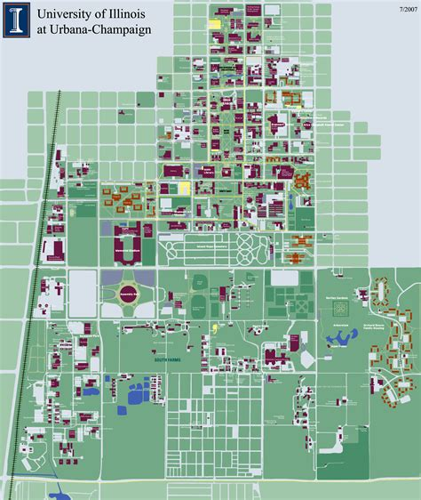 uiuc map of illinois at urbana chaign cus map 1401 west green urbana il 61801