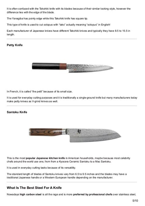 guide to kitchen knives japanese kitchen knives guide