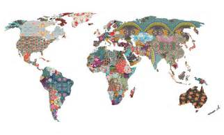 Cool World Map by Inspiration Treasures Really Cool World Map Print