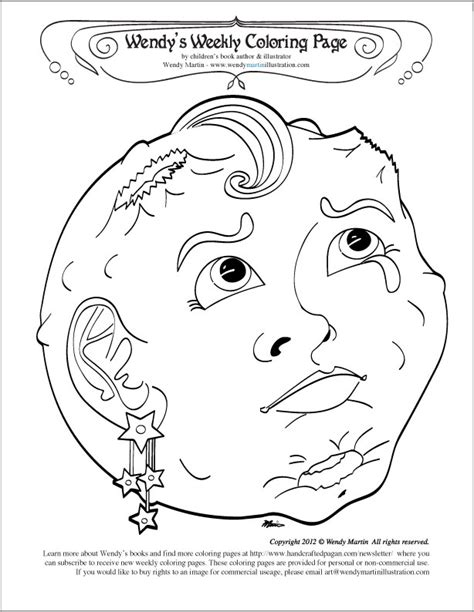 coloring pages for moon phases free coloring pages of full moon