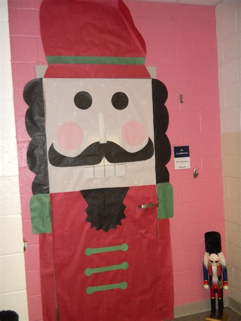 classroom door decoration for christmas nutcracker