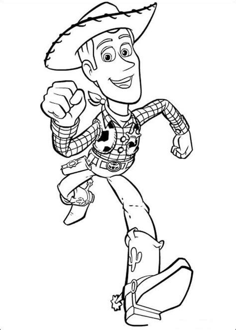 imagenes para colorear woody toy story toy story