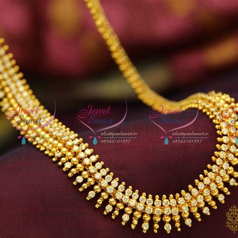 gold rate pattern in india nl3778 beads design ad white gold plated haram long