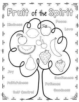 veggietales page fruit of the spirit coloring pages