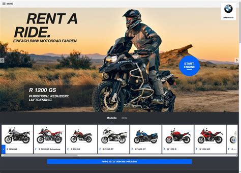 Motorrad Rental Germany by Bmw Motorcycle Rental Service Hits Europe Rent A Ride