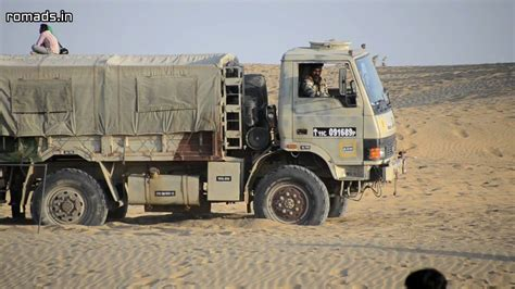 indian army truck indian army 4x4 truck roading at sam sand dunes