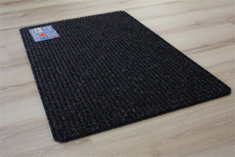 teppich janning foot mat door mat rib line 48 black grey 50x80 cm ebay
