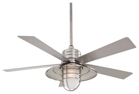 beach themed ceiling fans minka aire f582 bnw rainman brushed nickel 54 quot outdoor