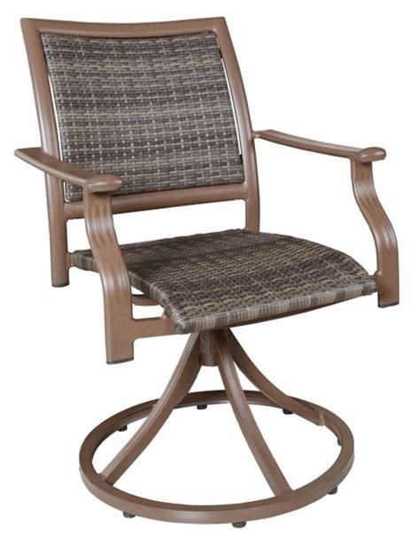 High Back Swivel Patio Chairs High Back Swivel Rocker Patio Chairs Coral Coast Deluxe Padded Sling Rocker Dining Set