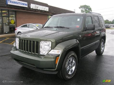 2008 Jeep Liberty Green 2008 Jeep Green Metallic Jeep Liberty Sport 4x4 52310621