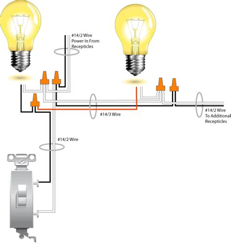 wiring two lights with switch at end of run wiring diagram